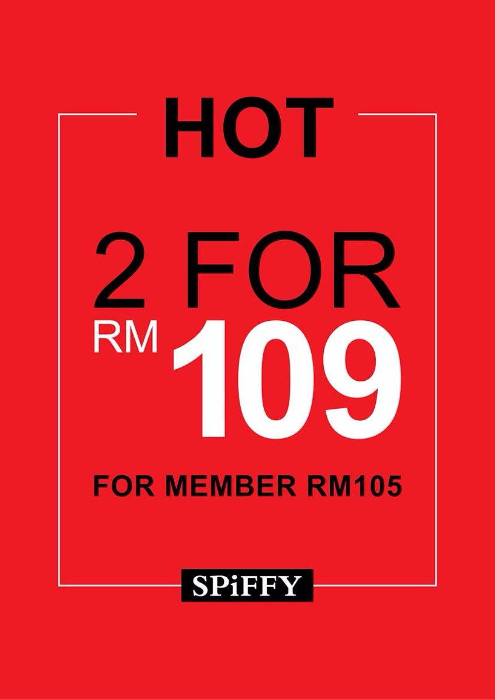 Spiffy Shoes Sales Malaysia for With You Club Members 2 pairs of shoes RM109 only Spiffy Shoes A01