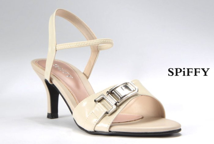 Fashion Modern Malaysia High Heels Shoes 时尚高跟鞋 Spiffy Brand YYM1767014 Beige Colour Shoe Ladies Lady Leather High Heels Wedges Shoes Online Shopping 11Street Lazada 05