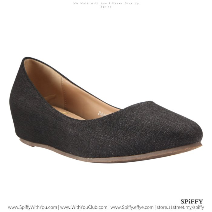 Fashion Modern Malaysia Sandal Doll Shoes 时尚娃娃鞋 Spiffy Brand ZMF8443010 Black Colour Shoe Ladies Lady Leather High Heels Wedges Shoes Online Shopping 11Street Lazada 02