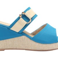 Spiffy Women Strappy Wedges Shoes - Blue Colour CT3519003