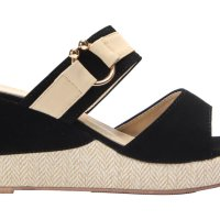 Spiffy Women Strappy Wedges Shoes - Black Colour CT3519010