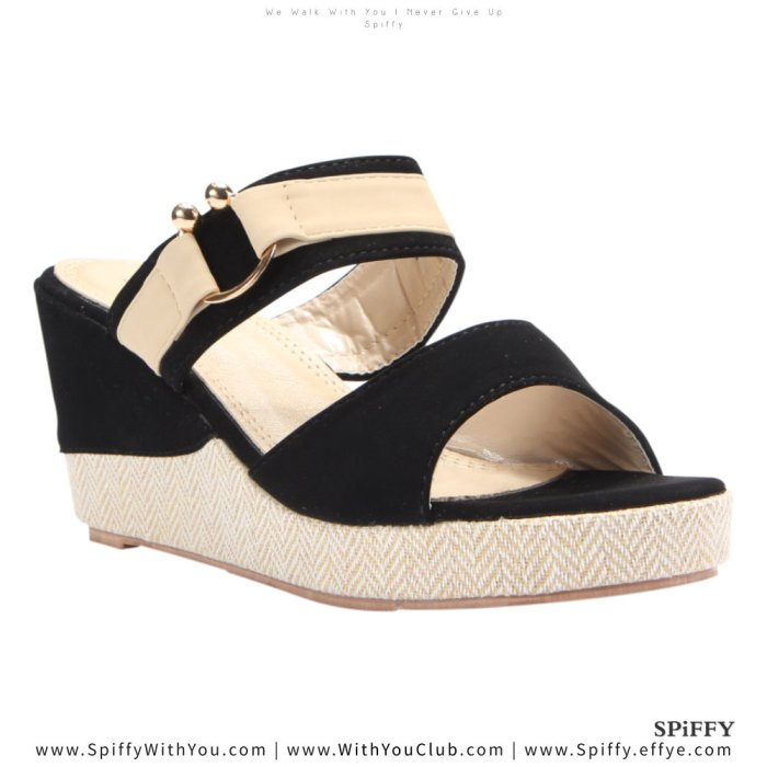 Fashion Modern Malaysia Wedges Shoes 舒适松糕鞋 Spiffy Brand CT3519010 Black Colour Shoe Ladies Lady Leather High Heels Wedges Shoes Online Shopping 11Street Lazada 02