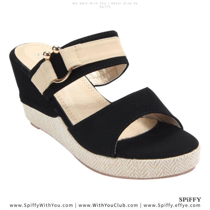 Fashion Modern Malaysia Wedges Shoes 舒适松糕鞋 Spiffy Brand CT3519010 Black Colour Shoe Ladies Lady Leather High Heels Wedges Shoes Online Shopping 11Street Lazada 03