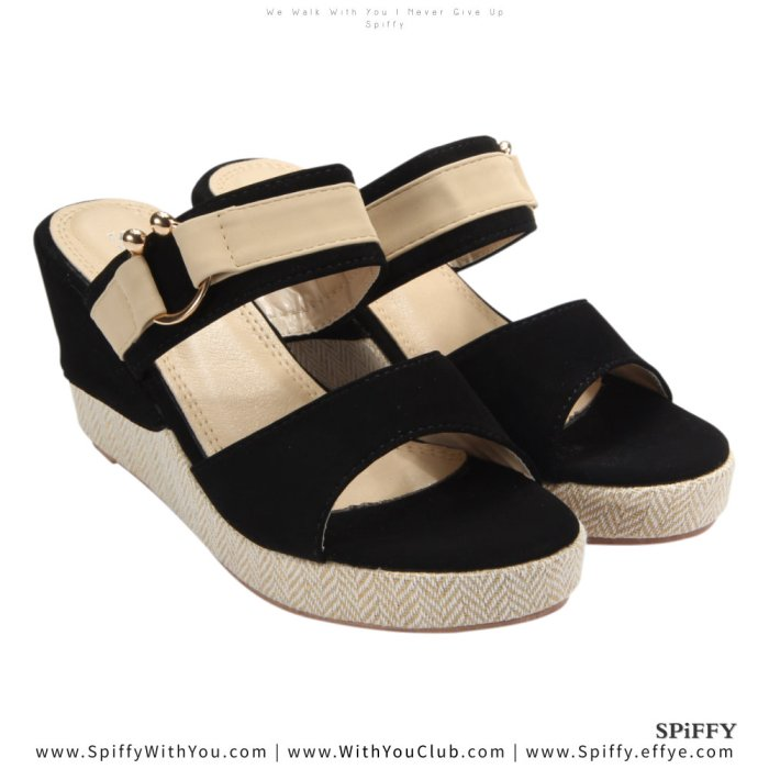 Fashion Modern Malaysia Wedges Shoes 舒适松糕鞋 Spiffy Brand CT3519010 Black Colour Shoe Ladies Lady Leather High Heels Wedges Shoes Online Shopping 11Street Lazada 04