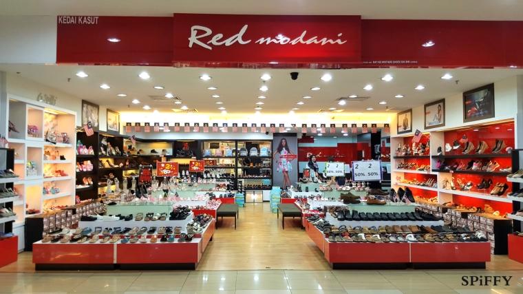 Dataran Pahlawan Megamall Melaka Malaysia Red Modani Branch Spiffy Fasshion Shoes A02