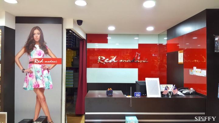 Dataran Pahlawan Megamall Melaka Malaysia Red Modani Branch Spiffy Fasshion Shoes A03