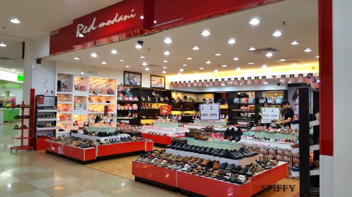 Dataran Pahlawan Megamall Melaka Malaysia Red Modani Branch Spiffy Fasshion Shoes A04