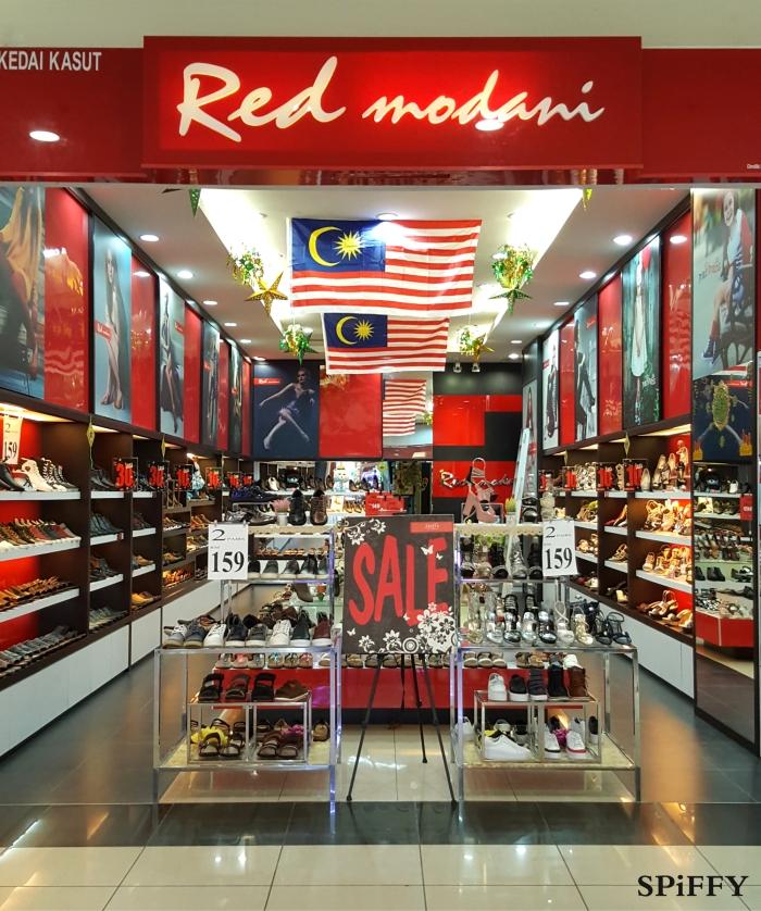 KSL City Mall Johor Bahru Malaysia Red Modani Branch Spiffy Fasshion Shoes A01