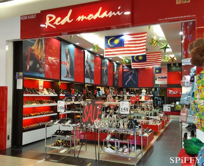 KSL City Mall Johor Bahru Malaysia Red Modani Branch Spiffy Fasshion Shoes A03