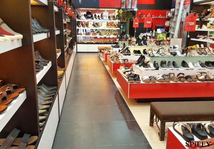 KSL City Mall Johor Bahru Malaysia Red Modani Branch Spiffy Fasshion Shoes A04