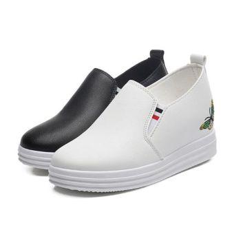 Hide-heel shoes