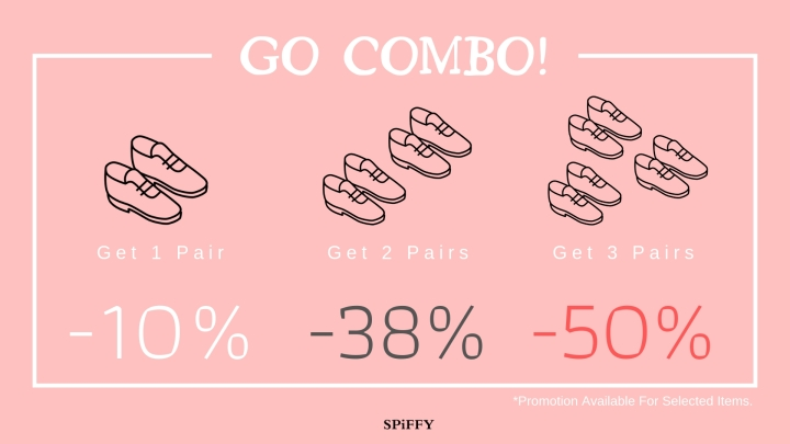 【SPiFFY Outlets】 Womens' Month Promotion: 2 Pairs get 38% Discount!