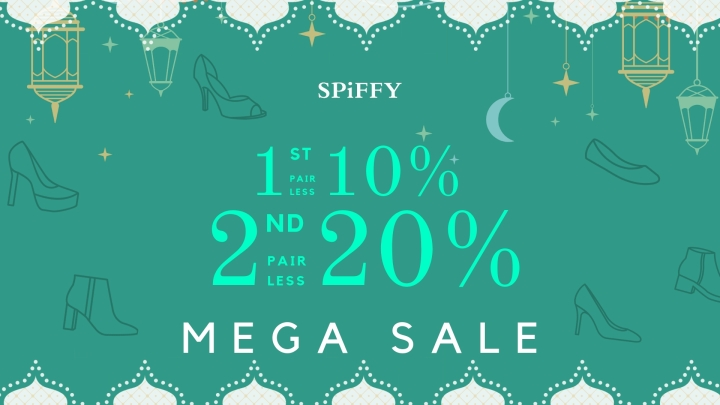 【SPiFFY Outlets】 MEGA SALE | NEW SHOES 2nd Pair 20% Discount!